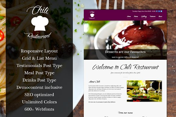 Chili - WordPress Restaurant Theme
