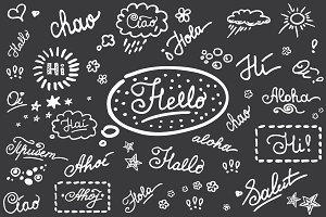 Set-Hello on different languages
