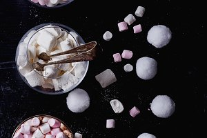 Marshmallows, Hot Cacao and heart