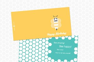 Bee Happy Birthday Card