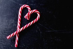 Heart Shape of Candy cane