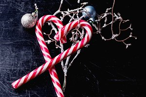 Candy Cane with Christmas Decoration