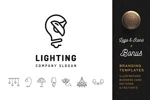Lighting Logo & Branding Templates