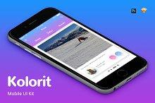 Kolorit Mobile UI Kit by  in Apps