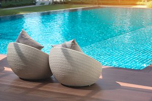Relaxing rattan chairs