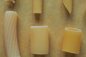 Italian pasta, many shapes