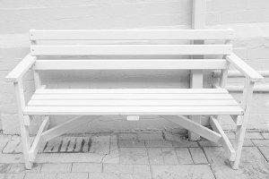 White bench seat
