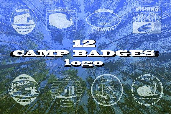 Camper Badges Logos