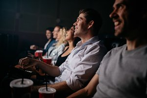 People sitting in cinema