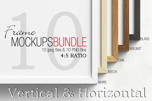 Frame mockups bundle 4&#x3B;5 ratio V&H