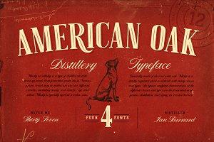 American Oak - 4 Font Set