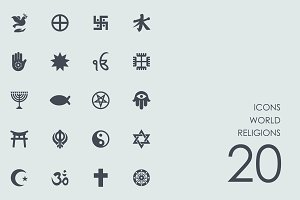 World religions icons