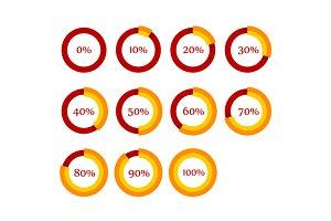 Percentage Diagram Set