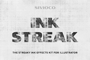 Ink Streak – Illustrator Actions