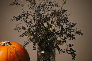 Retro autumn still life