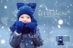 Let It Snow! Photoshop Action