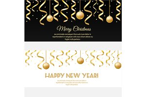 new year, christmas banners