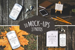 37 Pieces: 10 Mock-Ups & 27 Photos