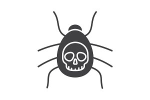 Poisonous spider icon. Vector