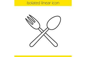 Eatery linear icon. Vector
