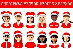 Christmas avatars of people