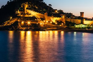 Tossa de Mar night - Costa Brava