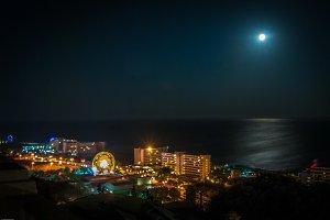 Full  moon night rhodos citiy