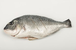 A fish prepared to cooking