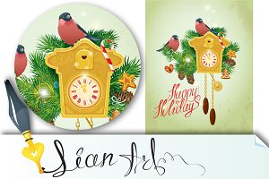 Christmas and New Year -Cuckoo Clock
