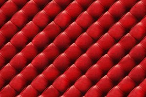 Red quilted leather background