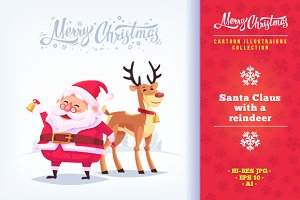 Cartoon Santa Claus illustrations