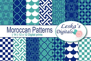 Moroccan Digital Paper Patterns