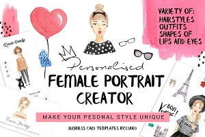 Personalised female portrait creator