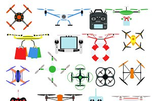Aerial drone quadrocopters