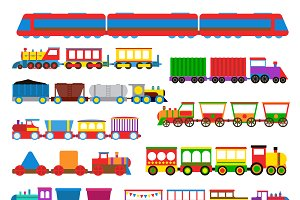 Locomotive transportation set