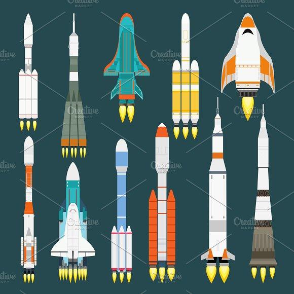 Rocket Set Vector