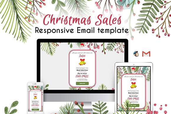 x mas email templates email templates on creative market. Black Bedroom Furniture Sets. Home Design Ideas