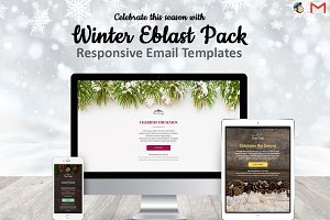 3 Winter Email Templates Pack