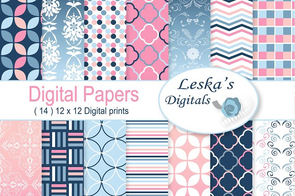 Ombre Digital Paper Patterns Custom Designed Graphic Patterns Creative Market