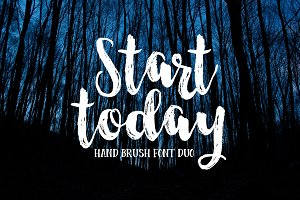Start Today - Brush Font Duo