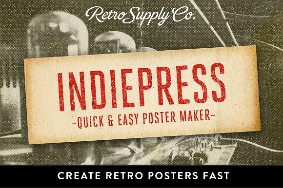 indiepress quick poster maker layer styles creative market