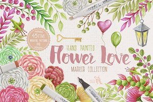 Flower Love Marker Kit