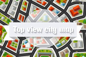 City top view  Bundle map city