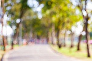 Blur people in public park