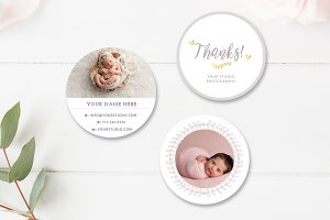 Photographer Sticker Templates