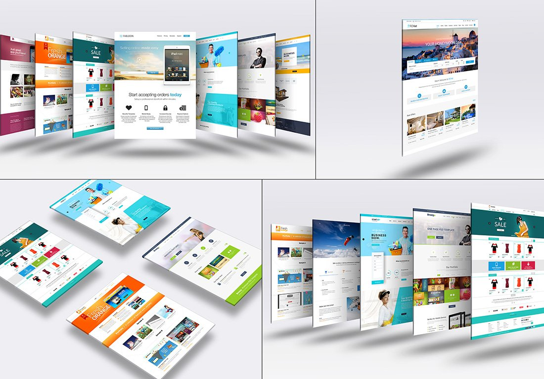 3d Website Mock Up 4 Product Mockups Creative Market