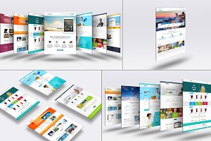 3D Website Mock-Up 4