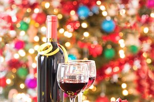 Happy Holiday with Red Wine