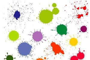 Color paint splatter