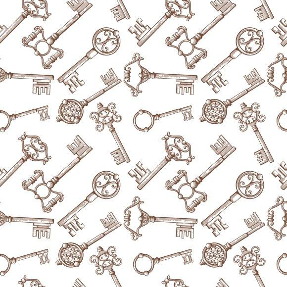 Vintage Key Seamless Pattern